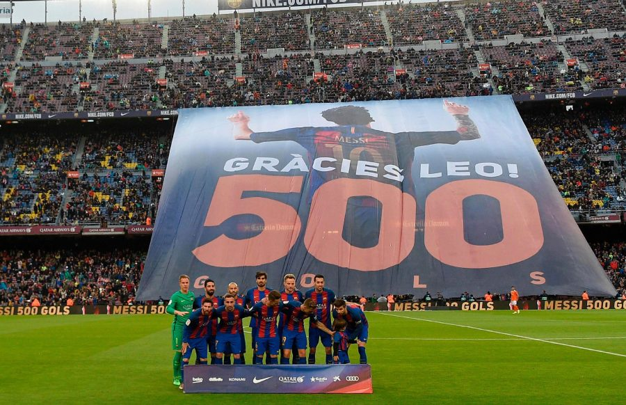 Messi's 500th Goal for Barcelona